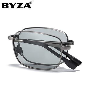 太阳镜男变色偏光可折叠墨镜司机开车自动智能感光日夜两用眼镜