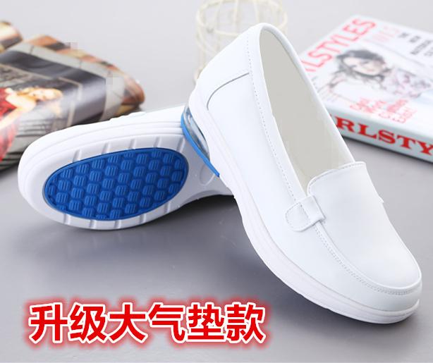 白色护士鞋坡跟休闲防滑气垫妈妈鞋55.00元包邮