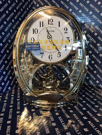 包邮正品RHYTHM日本丽声钟表婚房欧式现代静音豪华台座钟4SG768