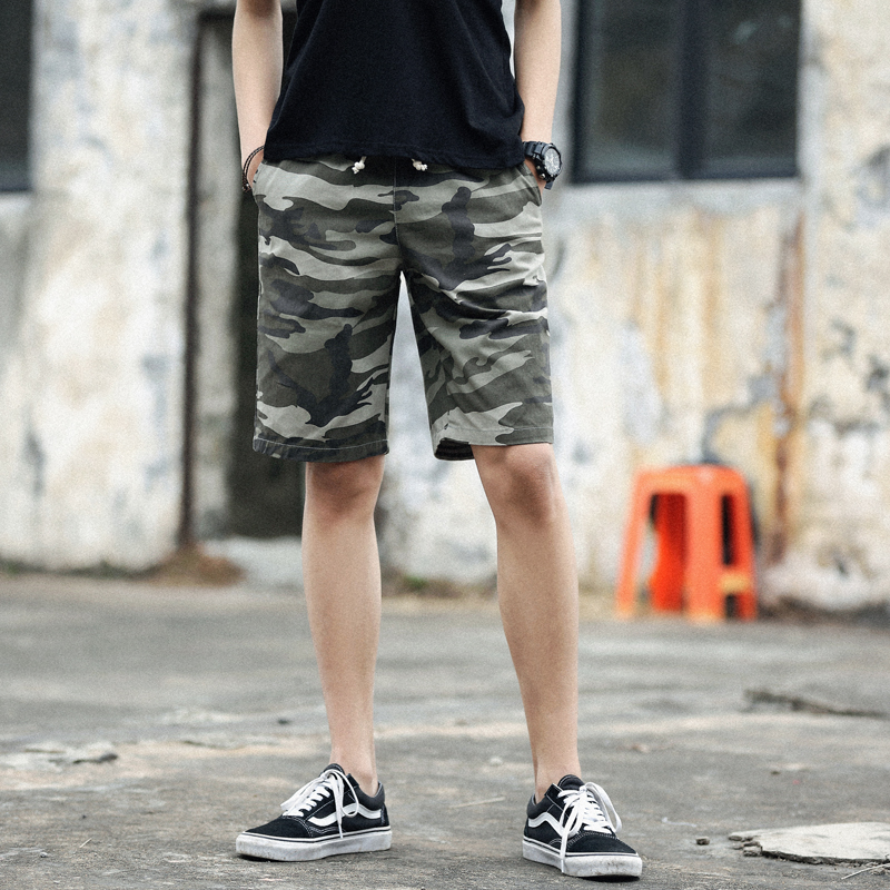 Casual shorts mens 2021 summer tooling camouflage Capris outdoor sports versatile personality trend hip hop mens wear