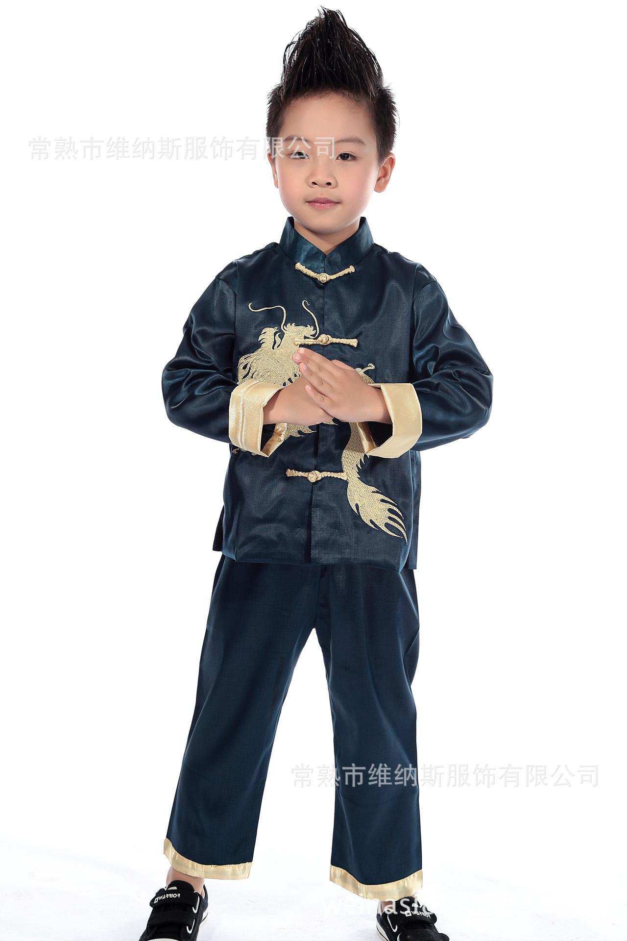 儿童唐装 春秋 男童唐装上衣 新年服中式礼服 3-14岁,可领取元淘宝优惠券