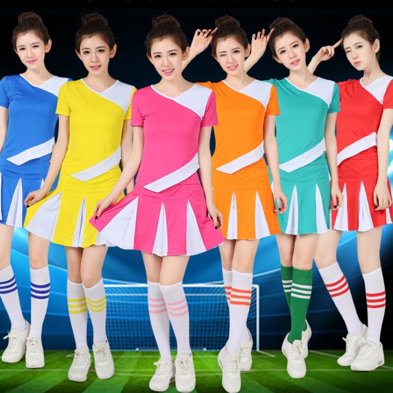 啦啦操服装 成人儿童啦啦操演出服比赛服男女足球宝贝表演服套装