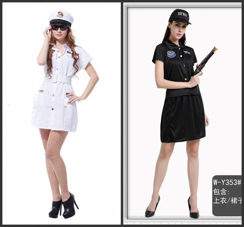 ハロウィンの舞台装?服装成人装舞踏会のコスプレFBI女警察官情趣性感道具