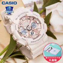 卡西欧手表女运动babyg星空樱花粉限量独角兽35周年限定GMAS120