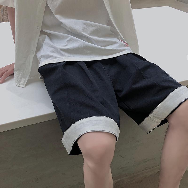 夏季超舒适中性休闲裤女宽松纯色工装短裤男 XZ707-DK008-35,可领取元淘宝优惠券