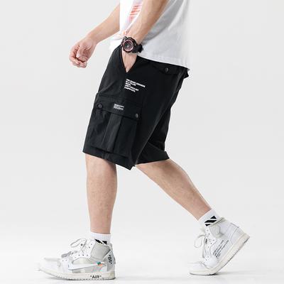 2019 夏季新款 大码日系无影墙印花弹力休闲短裤M-5X HK163-P45