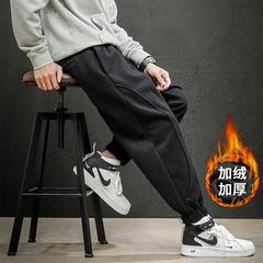 2019 冬季新款 日系马切达大码拼接加绒休闲卫裤M-5X HK19219-P55
