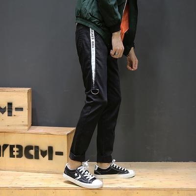 2017秋季新款 织带铁环弹力牛仔裤日系棚拍M-5X GK35-P55