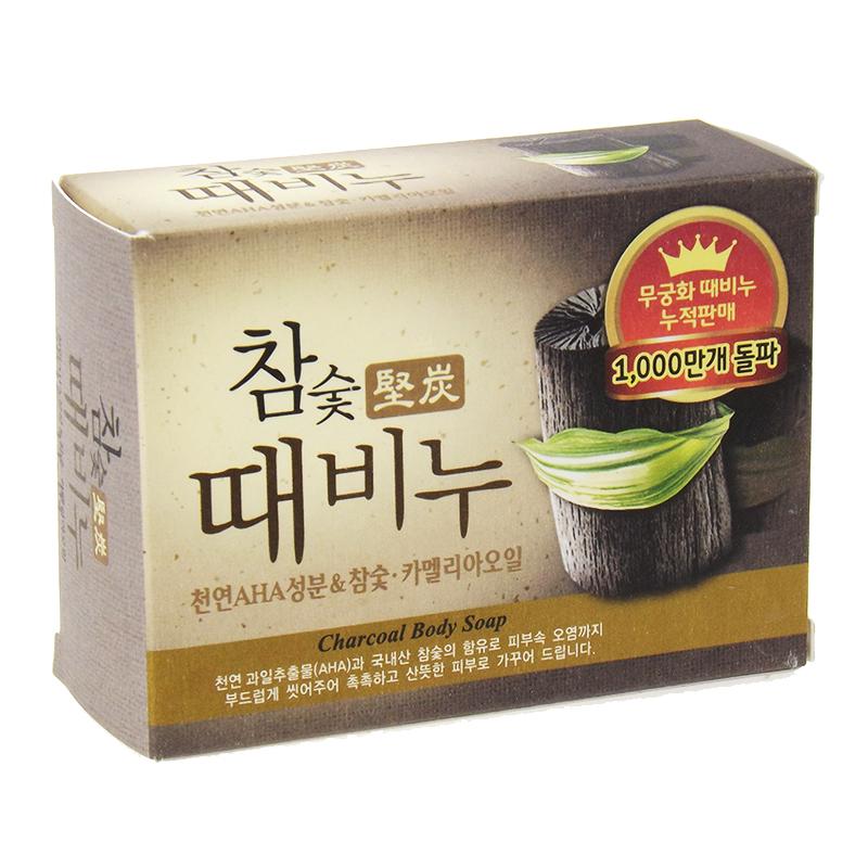 韩国进口正品 吴琼花去泥皂 mkh木炭去灰皂 100克 竹炭 清爽控油