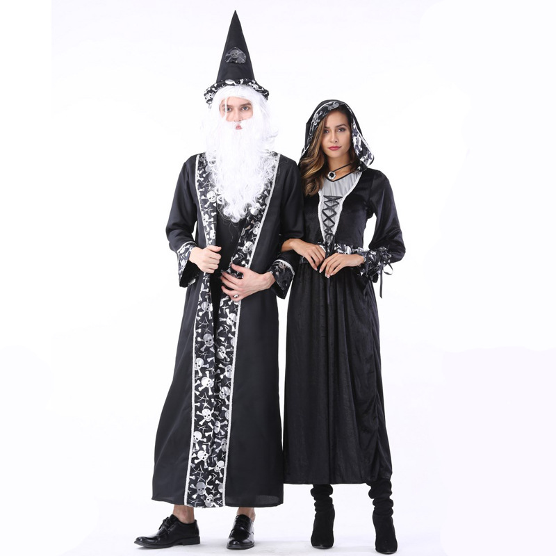 Halloween Costume Adult Couple death Palace Dress Arab costume Vampire Costume show Costume