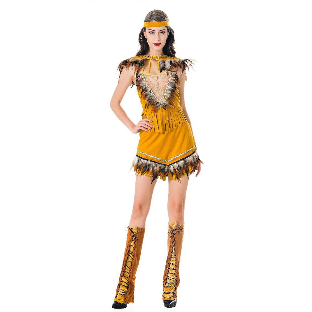 Game uniform role play European and American style women Halloween fun Indian Aboriginal Dance Costume