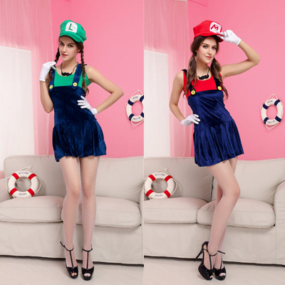 New game Super Mario fun uniform Mario stage costume role play Halloween Costume