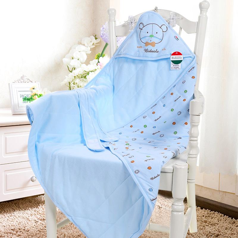 嬰兒純棉抱被新生兒包被春夏嬰童抱毯包巾寶寶醫院接生用品