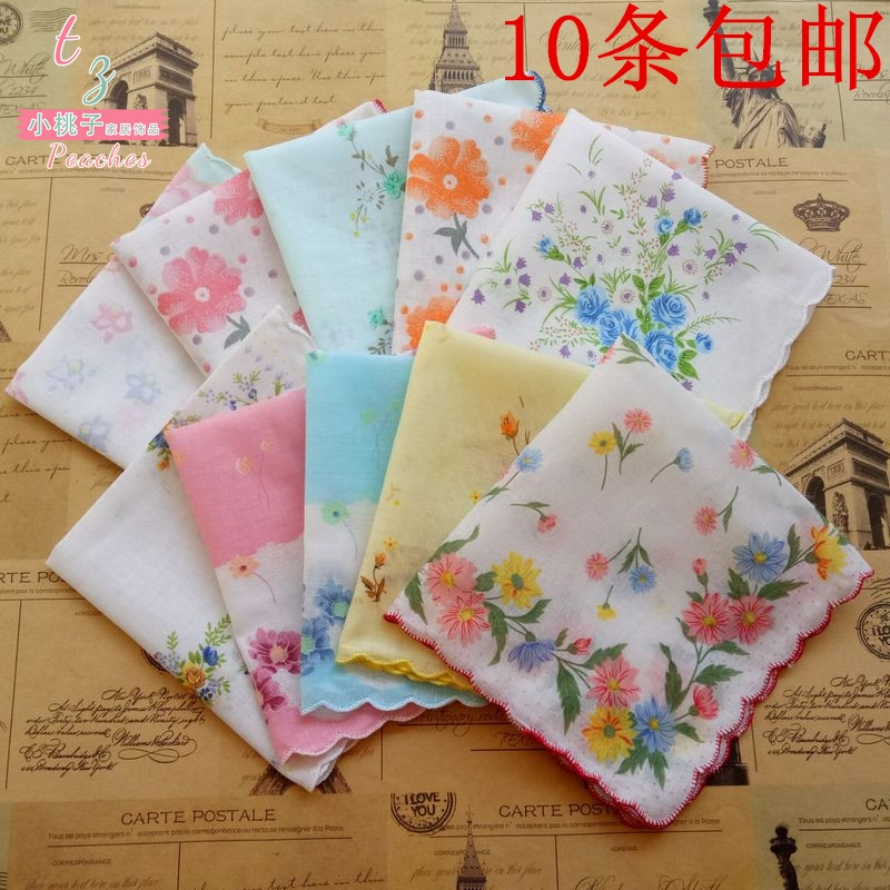 Womens crescent handkerchief cotton handkerchief kindergarten cotton handkerchief childrens cartoon sweat towel saliva towel