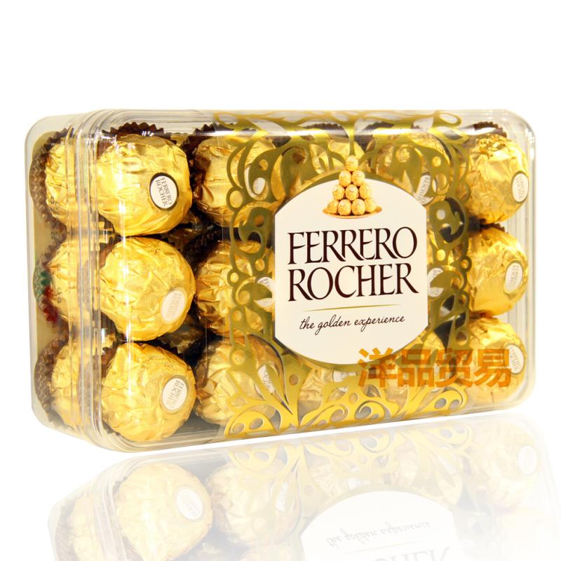 意大利进口FERRERO费列罗榛仁威化巧克力T30粒375g礼盒 高档喜糖图片