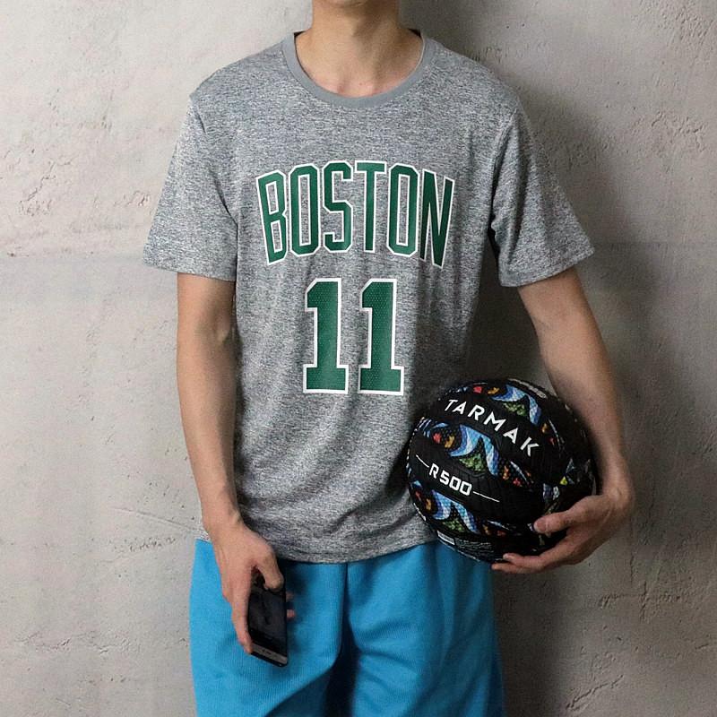 欧文凯尔特人速干透气运动高弹力休闲篮球短袖T恤