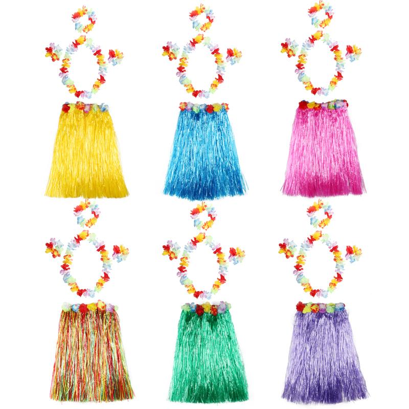 Ребенок производительность юбки танец одежда гавайи цвет танец всевозможные цвета для взрослых деятельность производительность одежда реквизит