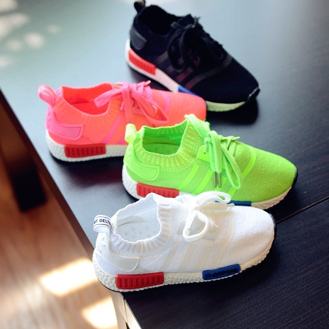 2021 spring new knitted breathable boys sports shoes baby childrens shoes girls casual shoes childrens soft soled running shoes