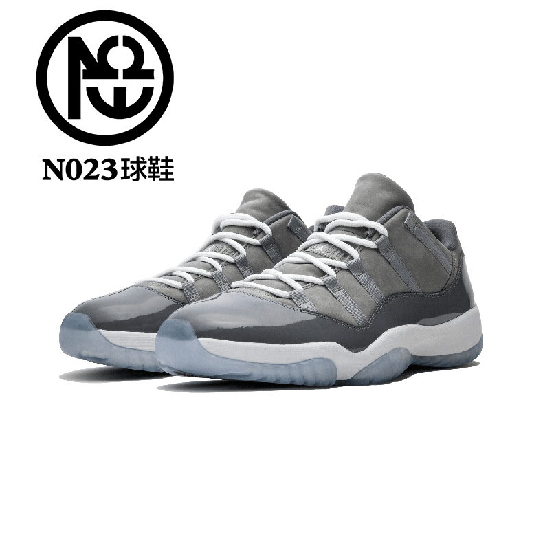 NO23球鞋 Air Jordan 11 Low Cool Grey AJ11酷灰低帮 528895-003
