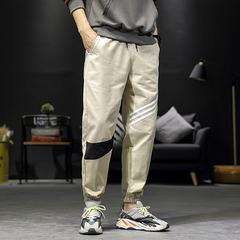 日系大码男哈伦裤男士休闲裤运动九分束脚长裤沙发风7105P45