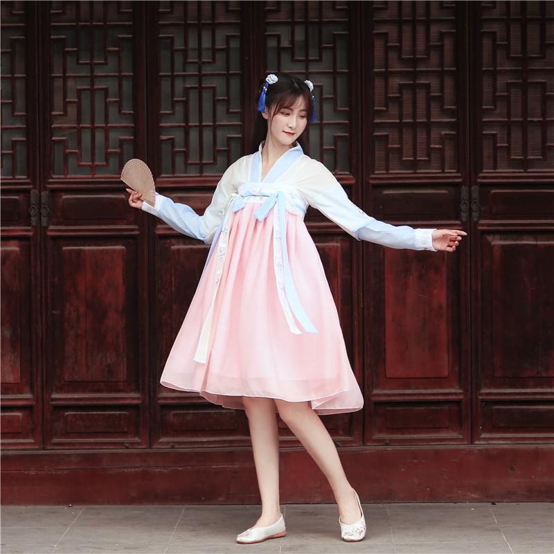 11-18新券原创汉服女中国风古装超仙齐胸襦裙改良日常套装学生夏季仙气