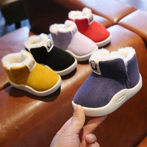 冬季宝宝鞋子男0-1-2一3岁婴儿鞋雪地靴学步鞋防滑软底女小童棉鞋