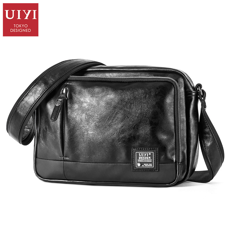 Yo Yiliangpin Japan Chao Brand Multi-layer Waterproof Leisure Men's Single Shoulder Bag Small Simple Leather Slant Bag