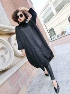 歐洲站20歐貨冬季新款時尚寬鬆韓版大碼女裝顯瘦連衣裙長打底衫潮