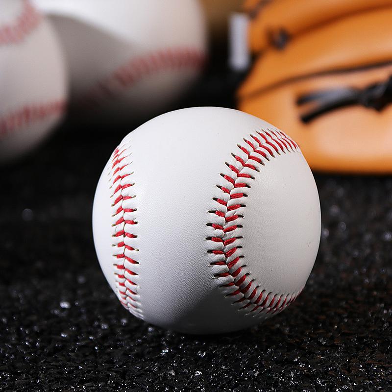 忍者风软球棒球手工缝纫实心棒球硬球中小学生练习考试10寸垒球