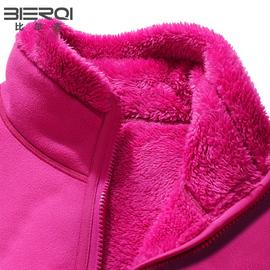 比尔齐摇粒绒外套女抓绒衣双面穿加厚卫衣男珊瑚绒保暖秋冬妈妈装