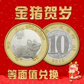 【现货】2019猪年生肖贺岁纪念币中国流通10元硬币收藏等值兑换