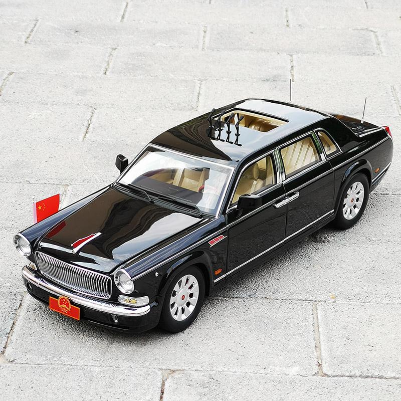 世纪龙 1:18 抗战70周年检阅车 红旗70周年阅兵车 合金汽车模型