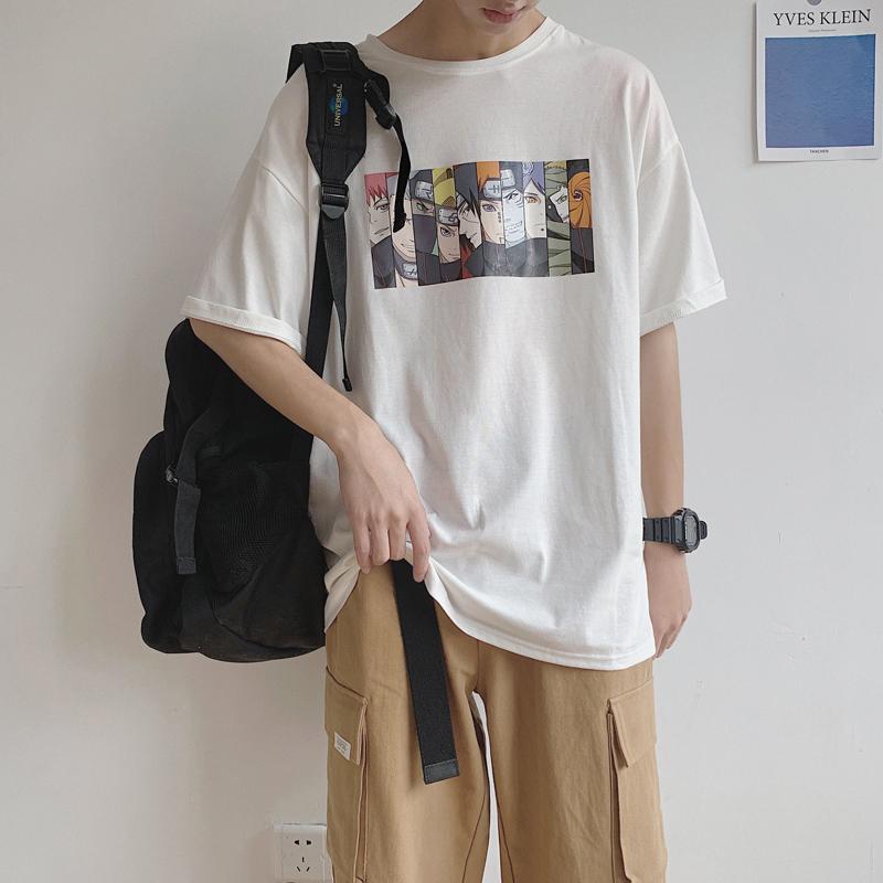 券后48.00元男装2019新款夏季宽松圆领短袖t恤