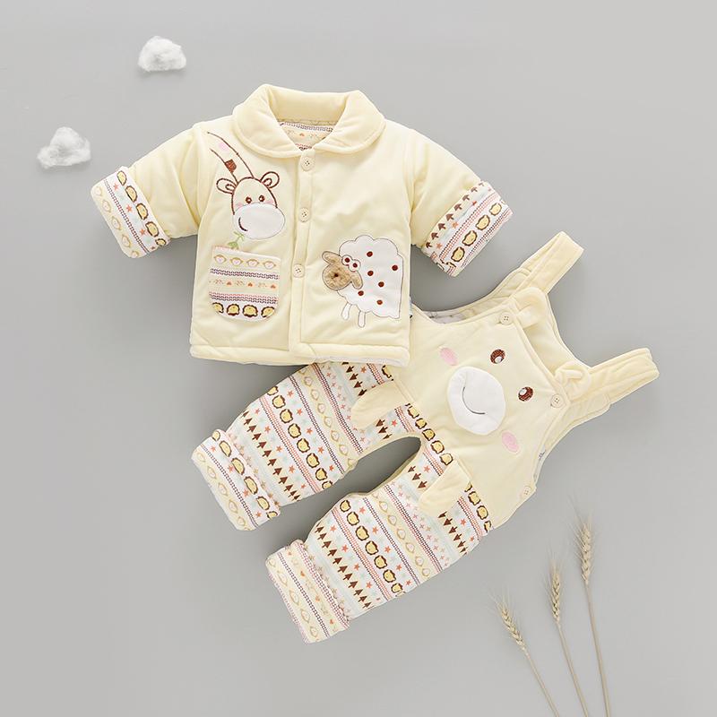 婴儿加厚棉袄套装0女宝宝3棉衣服外套男儿童6新生1岁12个月秋冬装图片