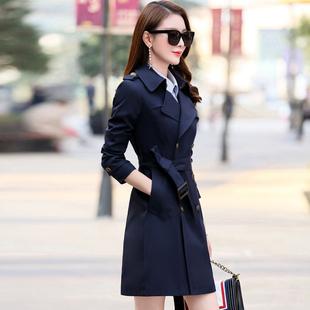 2020秋裝新款女裝中長款風衣顯瘦外套春秋季韓版矮個子修身收腰小