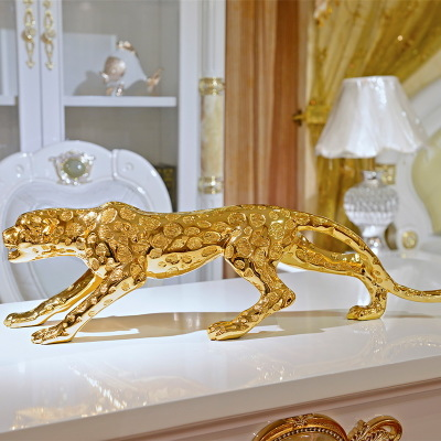 Large Lucky Leopard Decoration Living Room TV Cabinet Home Wine Cabinet Office Decoration Store Opening Gift