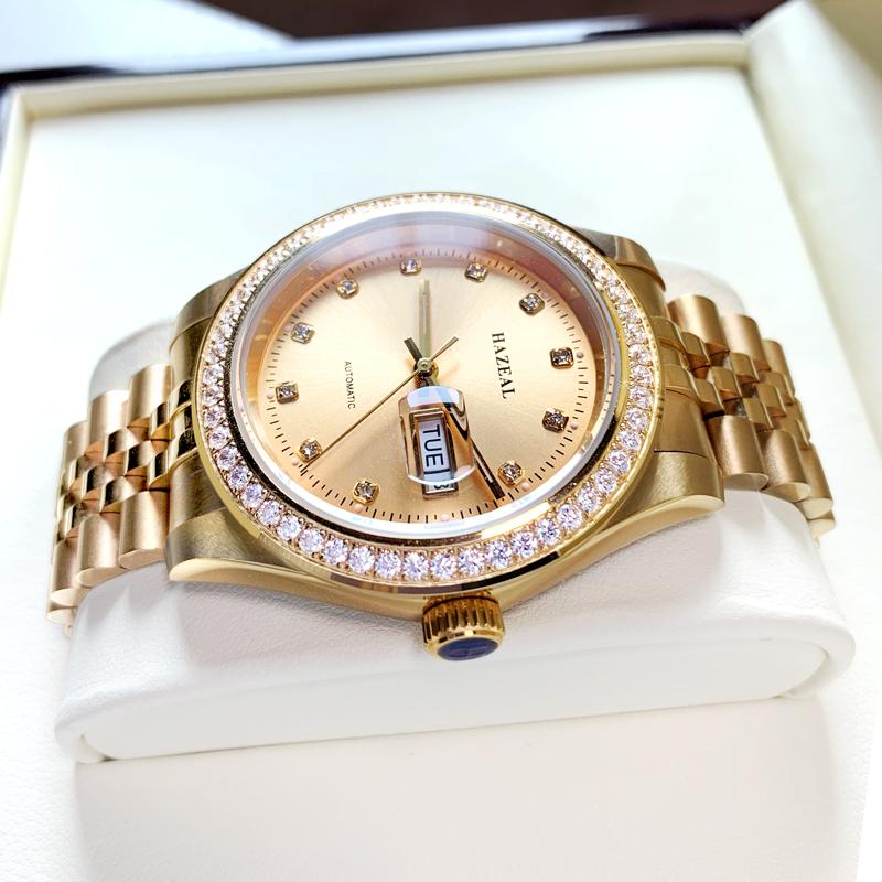 Robin henlovin watch mens genuine mens famous brand mechanical watch small gold watch waterproof sky star watch set with diamond