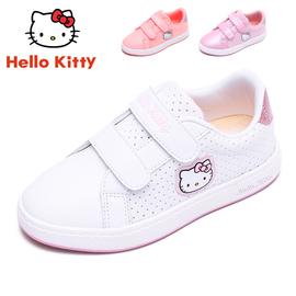 凯蒂猫女童透气小白鞋春秋季女中大童运动白鞋女孩学生白色板鞋轻图片