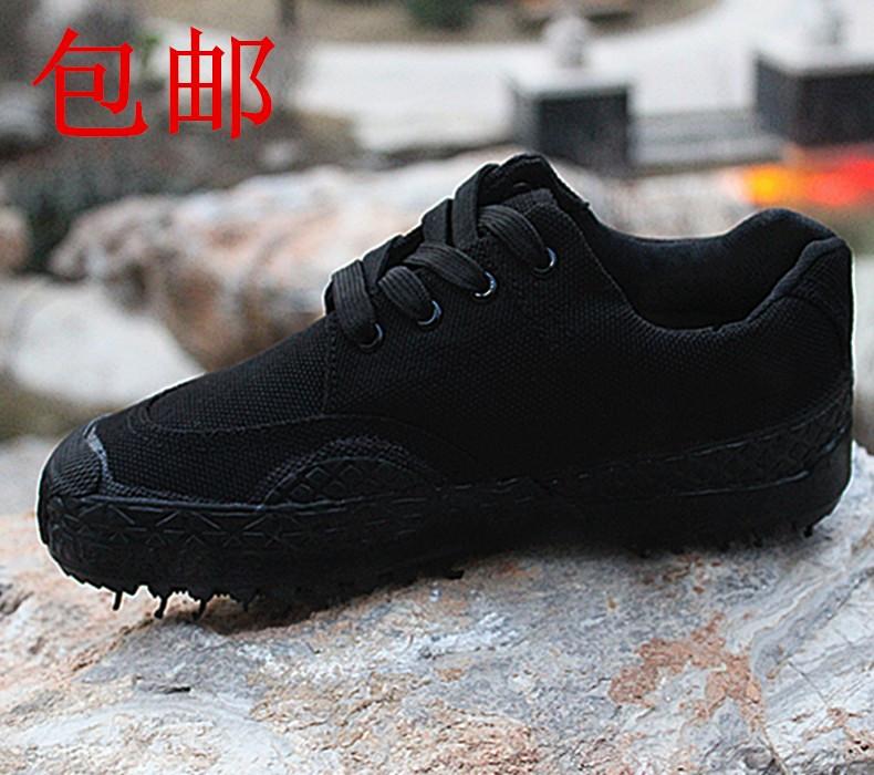 正品黑色军鞋99作训鞋男迷彩解放鞋工地耐磨军胶鞋训练鞋帆布鞋女