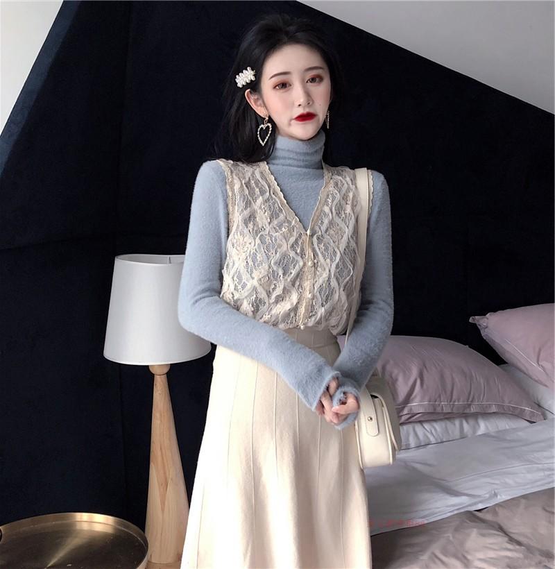 法式复古宫廷很仙洋气两件套装秋冬法国小众山本风超仙过膝连衣裙