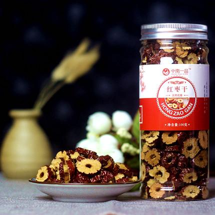 【买3送2】罐装90g香酥红枣干红枣片新疆脆枣干无核酥脆泡茶零食