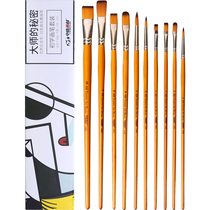 Zhongsheng painting material splashed nylon water chalk set oil painting acrylic brush watercolor hand-painted pen professional pigment fan Painting adult 6-pack students with beginners color art dedicated