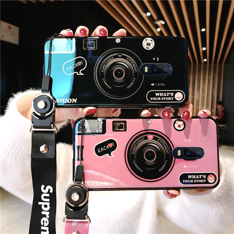 蓝光相机oppor17手机壳女款潮oppok1个性网红抖音r17oppo全包防摔正品保证