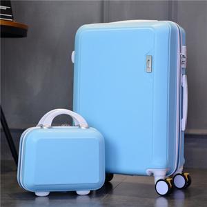 结婚行李箱小型女万向轮旅行箱学院风可爱男包可上飞机的行李箱中