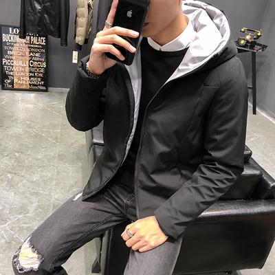 男士短款羽绒服外套,货号18501款黑色白底 P260元