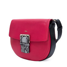 Furla / Fula clearance single shoulder Leather Flap Bag Club saddle bag snake buckle 903387