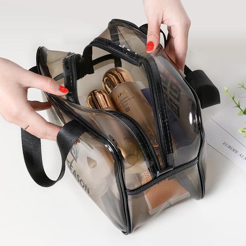 网红化妆包ins风超火便携女旅行大容量透明防水洗漱包品收纳袋盒