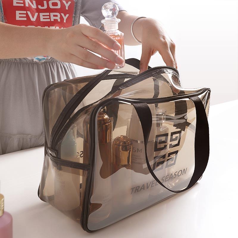 網紅化妝包ins風超火便攜女旅行大容量透明防水洗漱包品收納袋盒