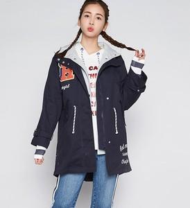 艾格 ES 2019春秋新品女装风衣外套连帽W289
