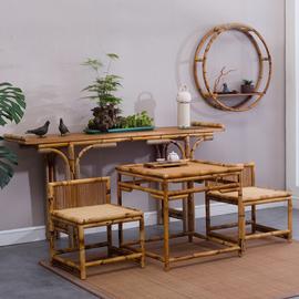 原创向往的生活家具同款竹藤供桌条案条桌国案翘头案神台供台促销图片